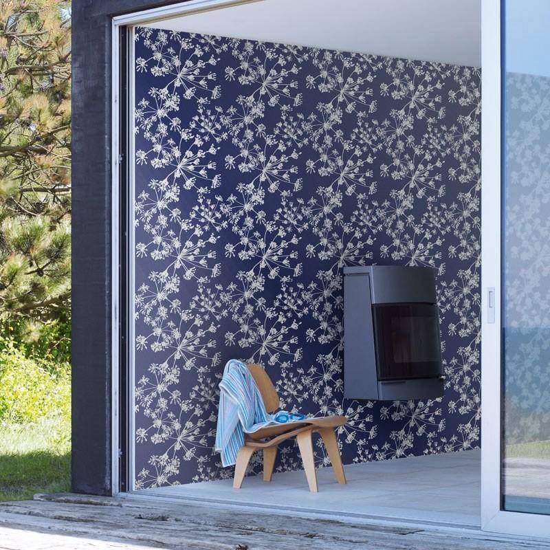 papel pintado algodones azul y plata matkawalls