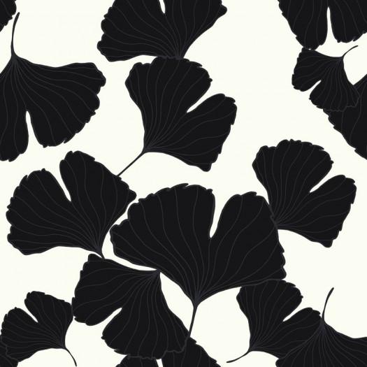 Papel pintado claveles blanco y negro matkawalls - Papel pintado blanco y gris ...