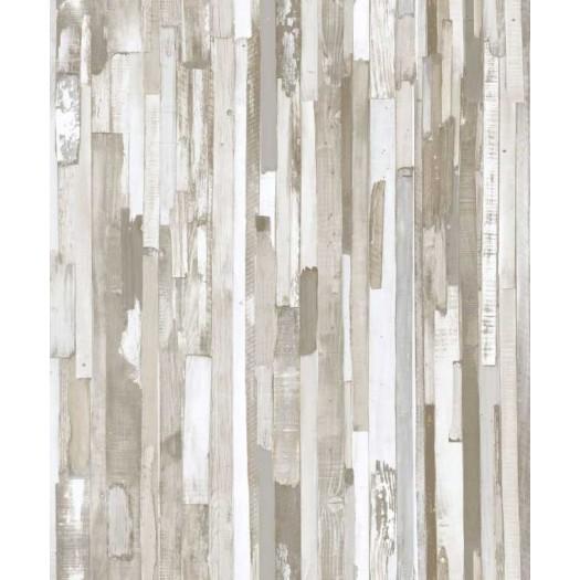 Papel pintado tablones de madera gris matkawalls - Papel pintado madera ...
