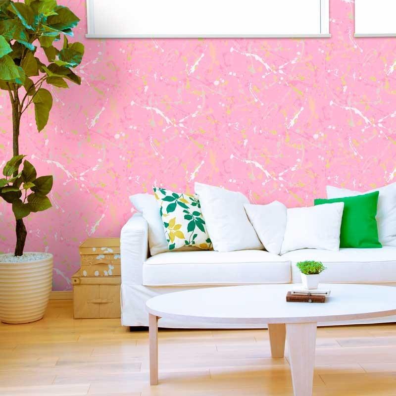 Papel pintado pintura rosa matkawalls for Papel pintado ka internacional