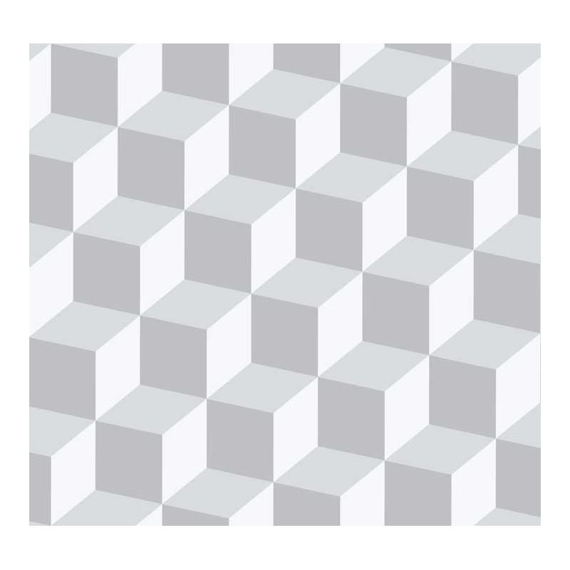 Papel pintado cubos 3d gris y plata matkawalls for Papel pintado color plata