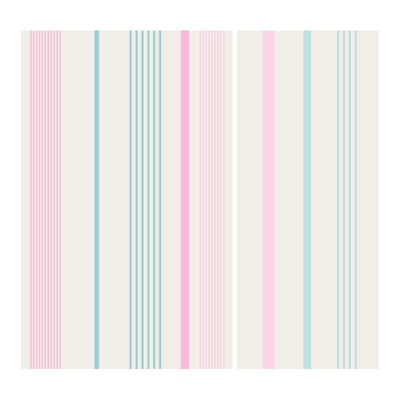 Papel pintado multiraya rosa beige y turquesa matkawalls - Papel pintado turquesa ...