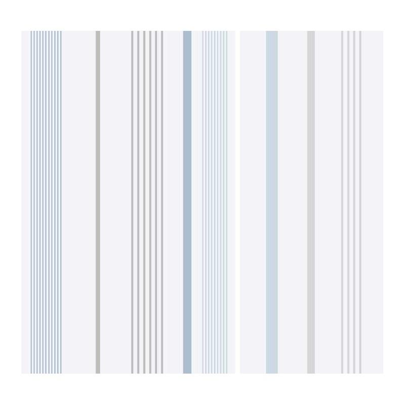 Papel pintado multiraya azul y gris matkawalls for Papel pintado azul y plata