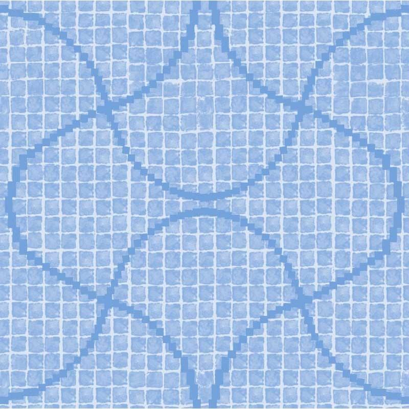 Papel pintado gresite azul for Papel pintado azul