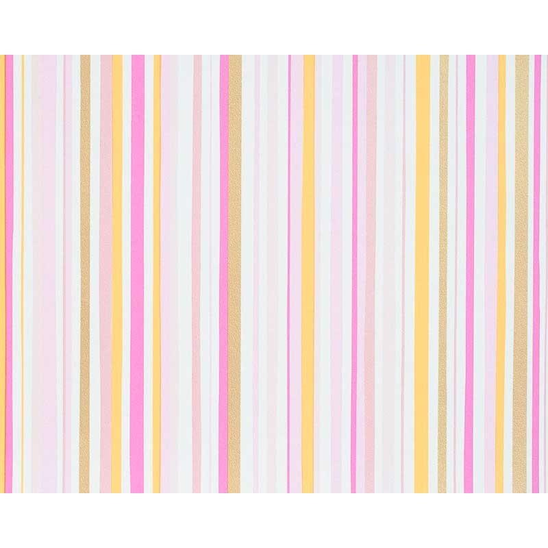 Papel pintado rayas multicolor rosa dorado y amarillo for Papel pintado marron y dorado