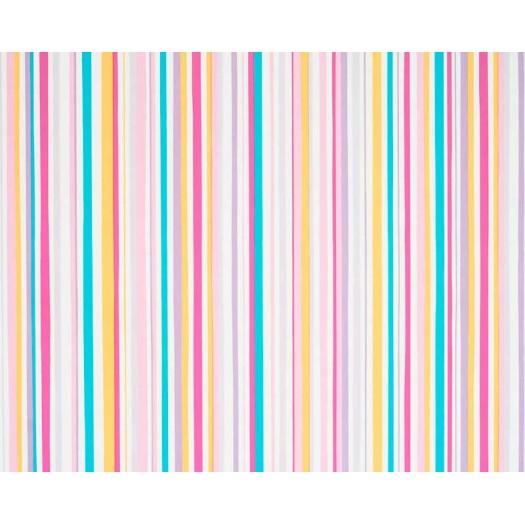 Papel pintado rayas multicolor turquesa rosa y amarillo for Papel pintado turquesa y marron