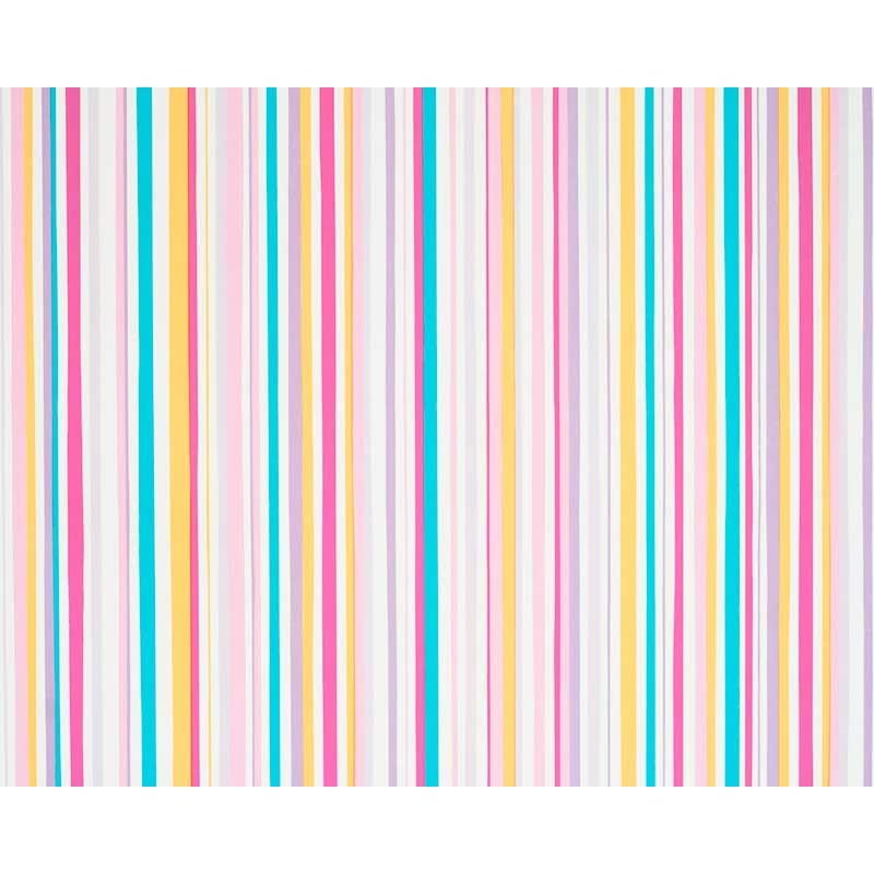 Papel pintado rayas multicolor turquesa rosa y amarillo for Papel pintado rosa y gris