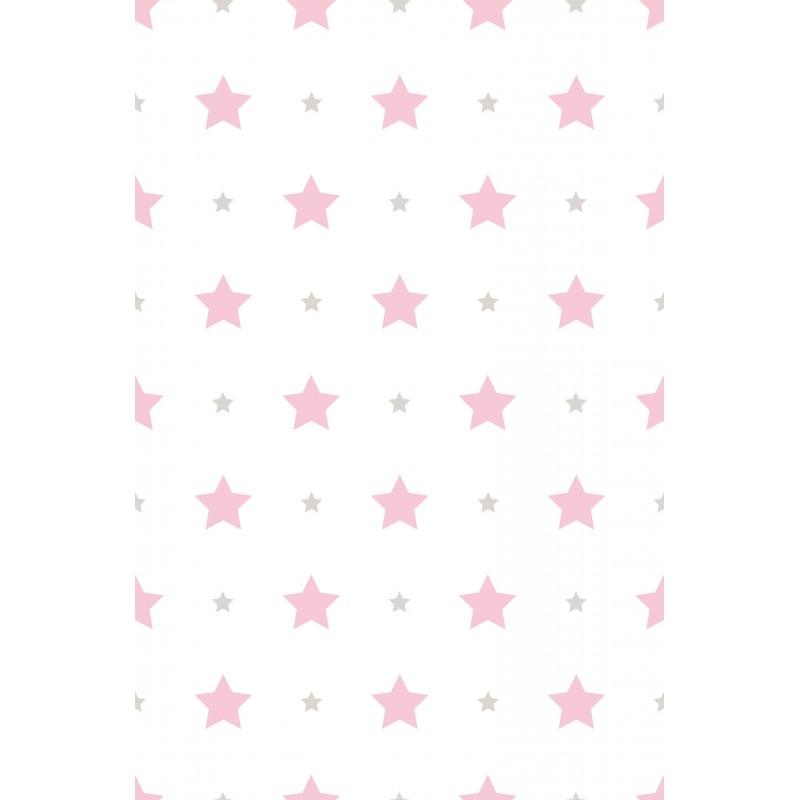 Papel pintado infantil estrellas rosa matkawalls - Papel pintado rosa ...