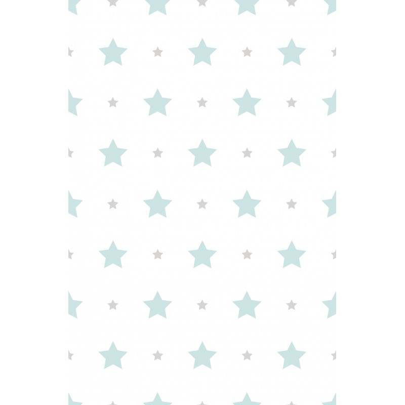 Papel pintado infantil estrellas turquesa matkawalls - Papel pintado turquesa ...