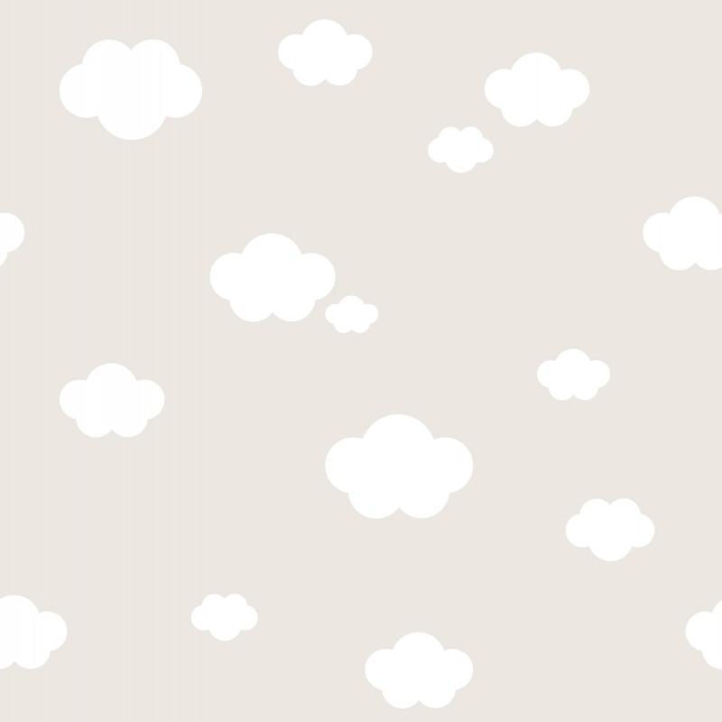 Papel pintado infantil nubes beige matkawalls - Ka internacional papel pintado ...