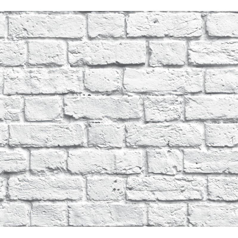 Papel pintado ladrillo gris matkawalls - Papel pintado gris ...