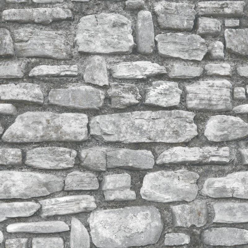 Papel pintado piedra gris matkawalls - Papel pared gris ...