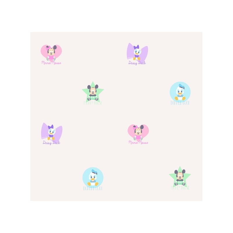 Papel pintado infantil mickey friends beige matkawalls for Papel pintado ka internacional