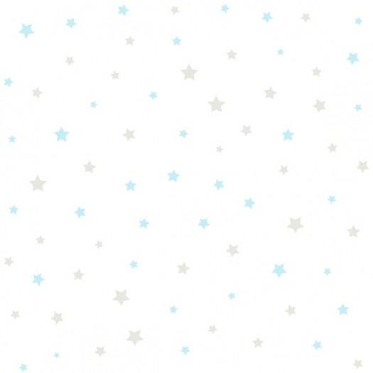 Papel pintado infantil papel estrellitas azul beige - Ka internacional papel pintado ...