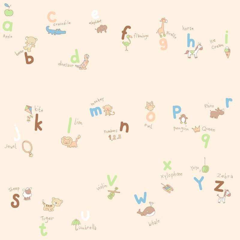 Papel pintado letras beige matkawalls - Papel pintado letras ...