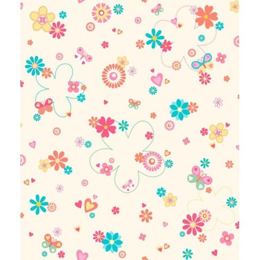 Papel pintado flores love beige matkawalls for Papel pintado ka internacional