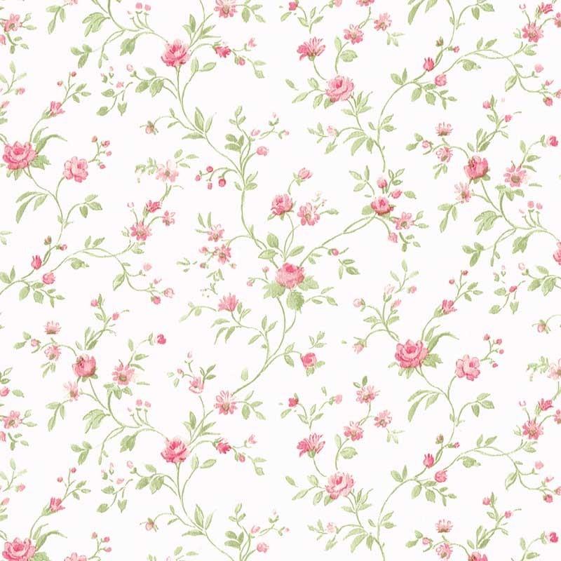 papel pintado flor peque a rosa matkawalls
