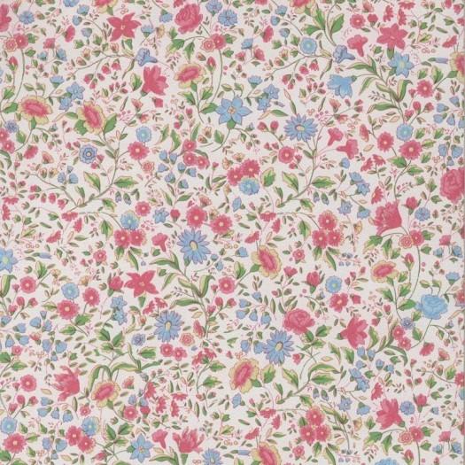 Papel pintado flor liberty rosa y azul matkawalls for Papel pintado decorativo