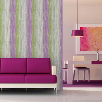 Combina papeles pintados en un mismo ambiente - Papel pintado morado ...