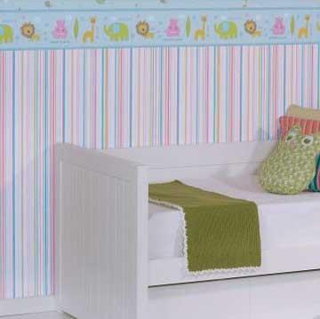 Decorar las paredes de tu hogar con papeles pintados a rayas for Papel pintado rayas