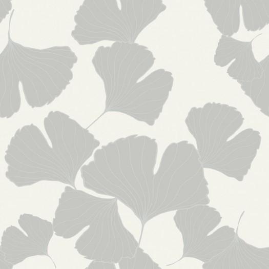 Papel pintado claveles blanco y plata matkawalls - Papel pintado color plata ...