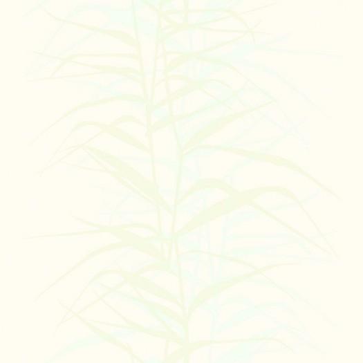 PAPEL PINTADO Hojas de bambú II Azul y Nácar