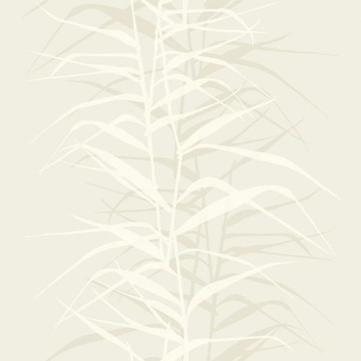 PAPEL PINTADO Hojas de bambú II Beige y Rosa