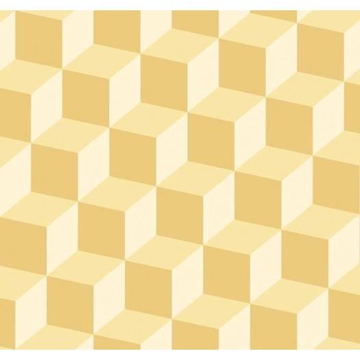 PAPEL PINTADO Cubos 3D Amarillo