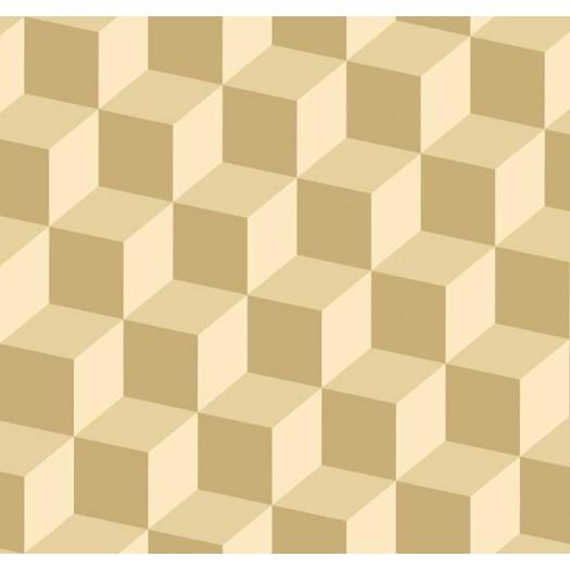 PAPEL PINTADO Cubos 3D Oro