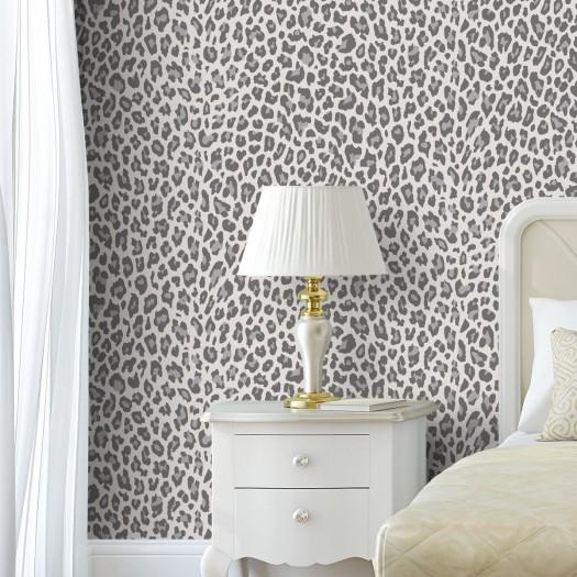 PAPEL PINTADO Leopardo Gris