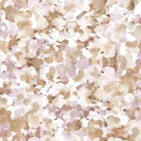 PAPEL PINTADO Flores románticas Granate