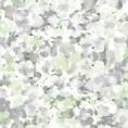 PAPEL PINTADO Flores románticas Verde y Gris