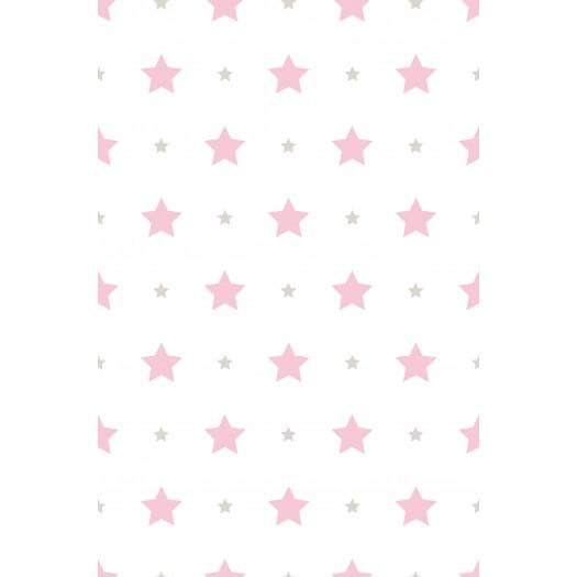 PAPEL PINTADO Estrellas Rosa