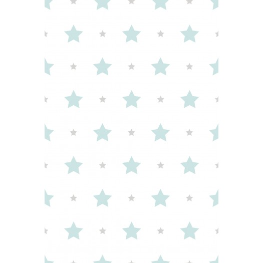 PAPEL PINTADO Estrellas Turquesa