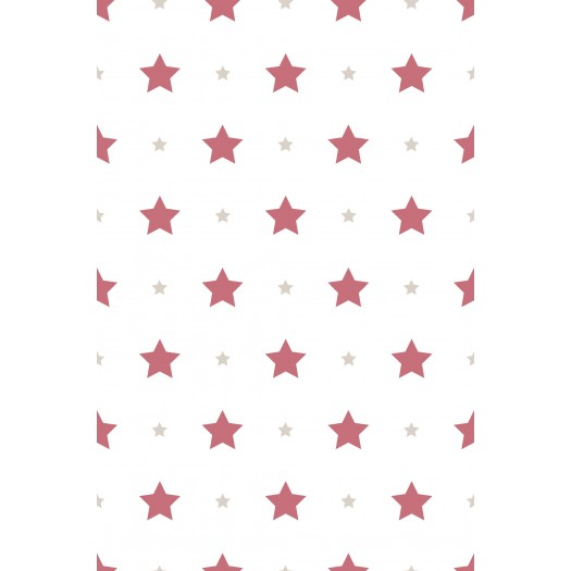PAPEL PINTADO Estrellas Granate