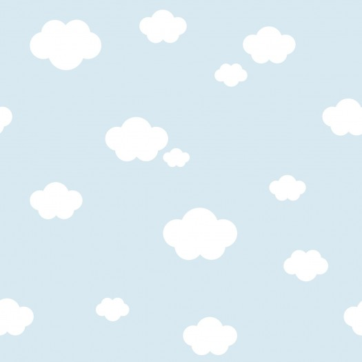 PAPEL PINTADO Nubes Azul