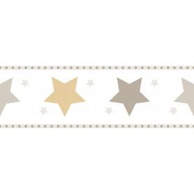 PAPEL PINTADO Infantil Estrellas Gris