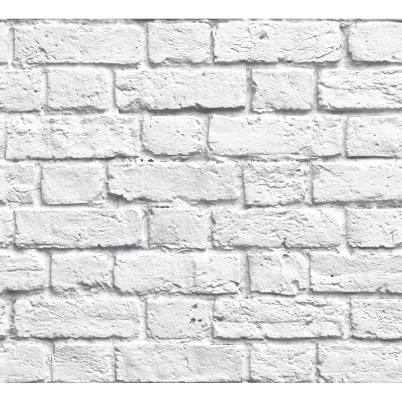 Papel pintado ladrillo gris matkawalls - Papel pintado ladrillo blanco ...
