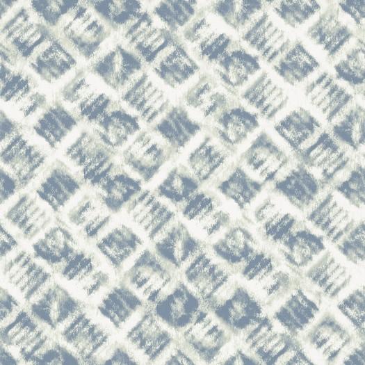 PAPEL PINTADO Geométrico Azul y Verde