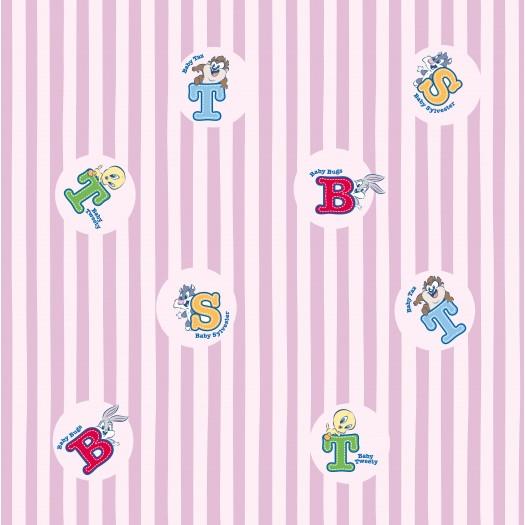 PAPEL PINTADO Letras Baby Looney Tunes Rosa