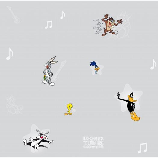 PAPEL PINTADO Concierto Looney Tunes Gris