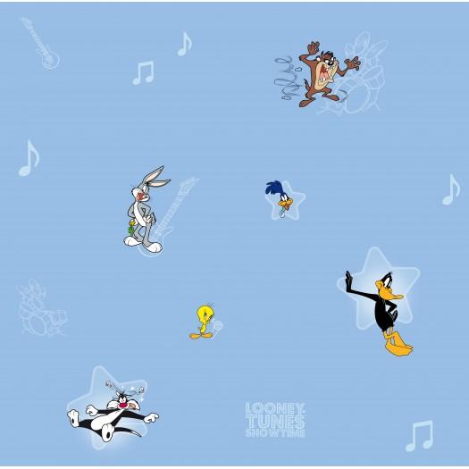 PAPEL PINTADO Concierto Looney Tunes Azul
