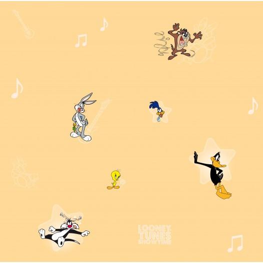 PAPEL PINTADO Concierto Looney Tunes Naranja