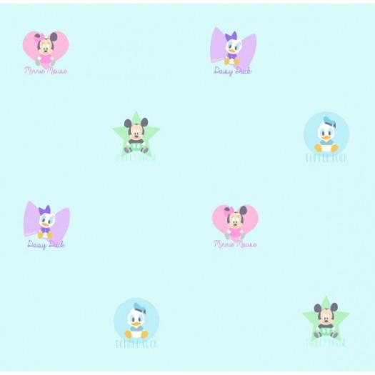 Papel Pintado Infantil Mickey & Friends Azul