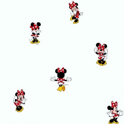 Papel Pintado Infantil Minnie Mouse Roja