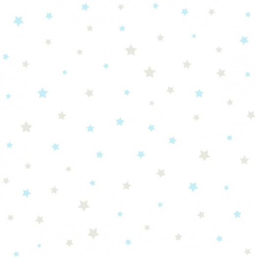 Papel Pintado Infantil PAPEL ESTRELLITAS Azul-Beige