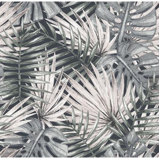 Papel pintado palmeras grises matkawalls for Papel pintado para pintar castorama