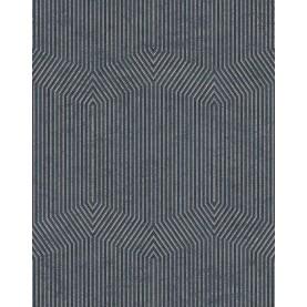 PAPEL PINTADO Diseño efecto mármol en ángulos gris