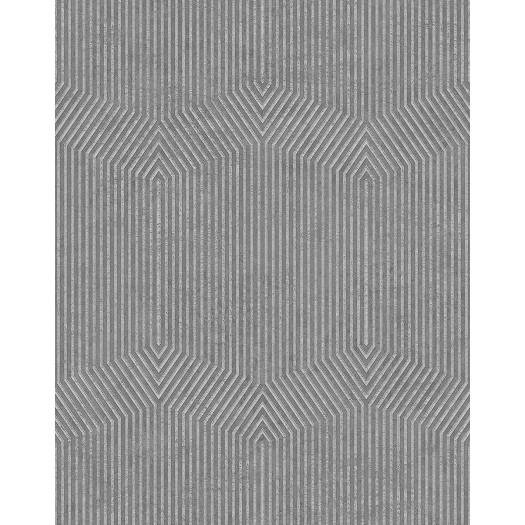 PAPEL PINTADO Diseño rayado geométrico gris