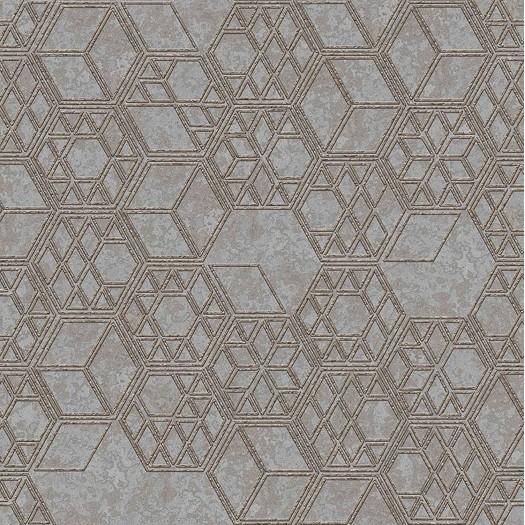 PAPEL PINTADO Cubos 3D combinados en diferentes tamaños beige gris